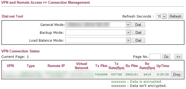 LAN to LAN - Connection management
