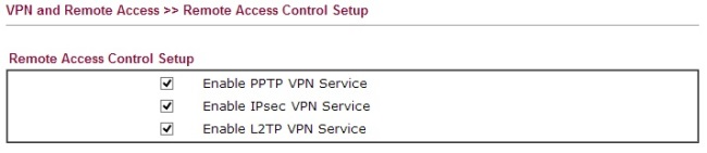 Remote access control setup