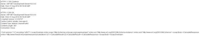 TCPMon Incomming Response